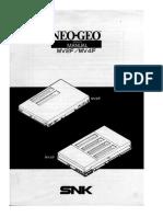 NeoGeo MV2F 4F Manual
