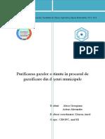 Purificarea Gazelor Obtinute in Procesul de Gazeificare