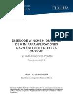 DISEÑO DE WINCHE HIDRÁULICO