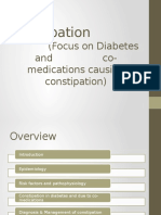 Constipation Focus on Diabetes and Co-medications