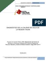 Diagnostico de La Calidad de Agua de La Region TACNA