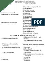 Clasificación Minera