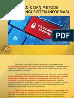 Teknik Dan Metode Keamanan Sistem Informasi