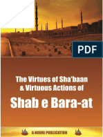 Virtues of Shaban