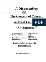 Dissertation on Consent in Penal Liability