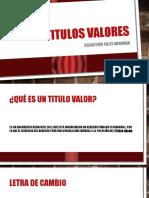 tItulos-valores
