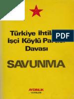 TİİKP - Savunma - Aydınlık Yayınları, 1. Basım 1974