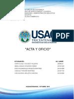 Acta y Oficio