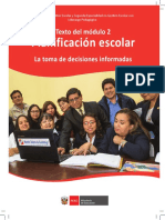 Del Modulo 2 de Planificación Escolar