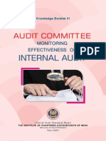 Audit Committee- Effectiveness of Internal Audit