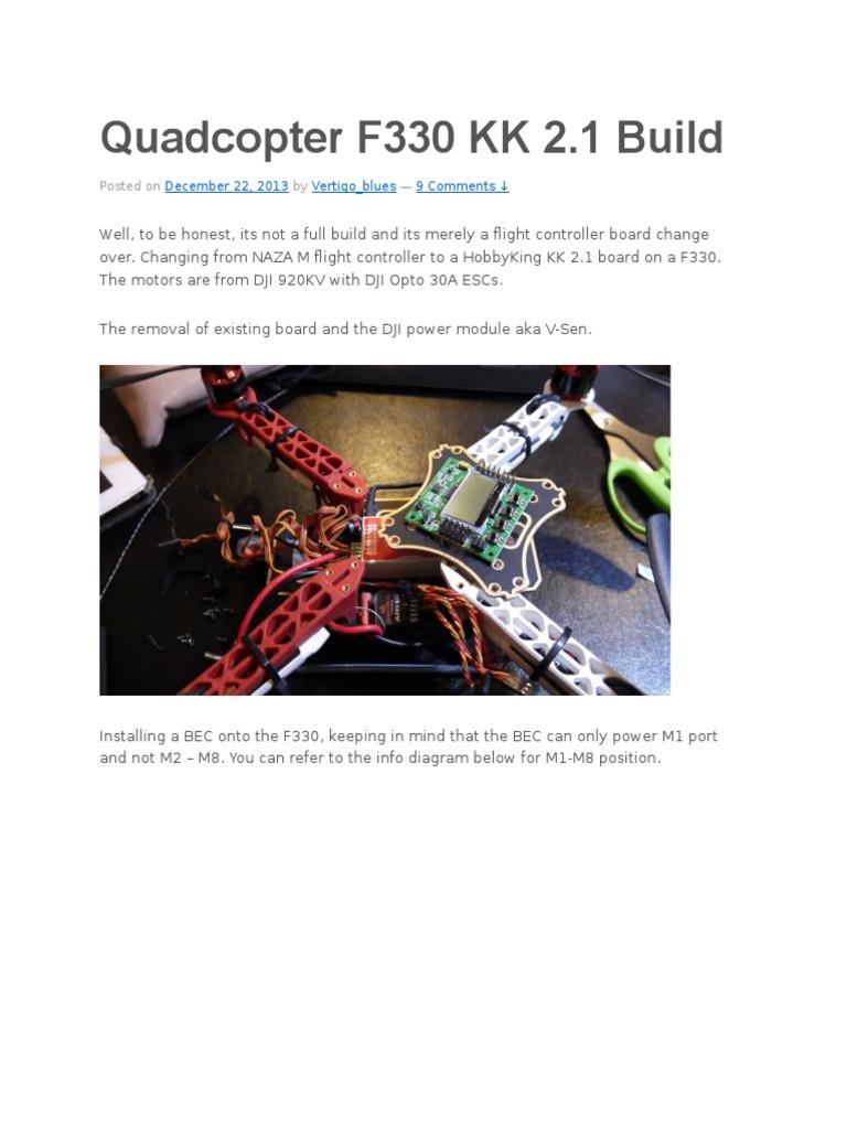 Quadcopter F330 Kk 2 Electronics Manufactured Goods Hobbyking Wiring Diagram