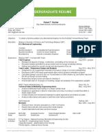 Sample Undergraduate Resume PDF