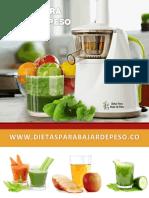 Dietas Para Bajar de Peso eBook 2015 2