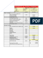 Garment Sample Costing Sheet