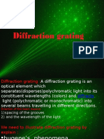 diffraction grating slide