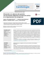 Ultrasonido a La Cabecera Del Paciente Una Herramienta Diagnóstica de Disección Aórtica en El Departamento de Emergencias