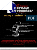 how to build a dobsonian telescope