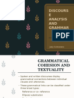 Discourse Analysis and Grammar