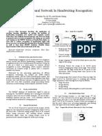 Shaohan Xu, Qi Wu, Siyuan Zhang, Application of Neural Network in Handwriting Recognition