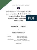 Tesis_Desarrollo de Tecnicas Para La Medida de La Distribucion Longitudinal de Dispersión Cromática
