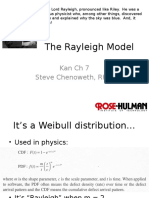 Wk4-1 the Reyleigh Model