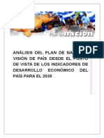 Analisis Plan de Nación y Visión Honduras