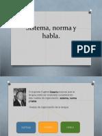 Sistema, Norma y Habla