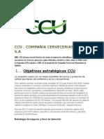 Objetivos de Estrategia ,Tactica,y Operativo de Ccu y Coca-cola