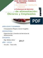 Diseño de Alimentación (Obreros y Empleados)