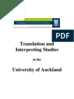 Translation Studies at Auckland University 2008