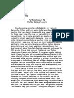 portfolio project 2 do you believe