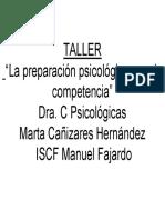 La Preparación Psicologica Para La Competencia