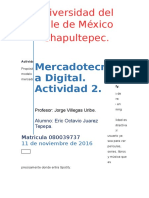 Mercadotecnia Digital. Actividad 2