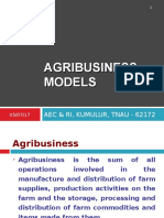 agribusiness models