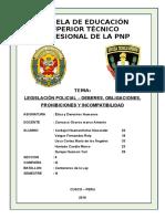 MONOGRAFIA DE LEGISLACIÓN POLICIAL – DEBERES, OBLIGACIONES, PROHIBICIONES Y INCOMPATIBILIDAD.docx