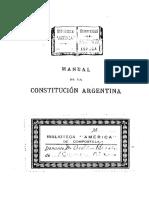 Manual de la Constitución argentina - Joaquín V. González