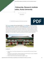 Pony Chung Fellowship, Research Institute of Korean Studies, Korea University _ Beasiswa Indonesia.pdf