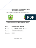 Inf. Fungicidas en TINGO MARIA