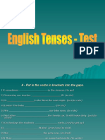 English Tenses TestWithAnswers