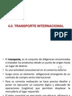 4.0. Transporte Internacional