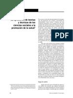 La Aplicación de Teorías y Técnicas de Las Ciencias Sociales a La Promoción de La Salud