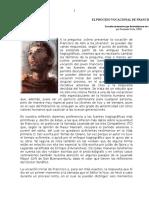 El Proceso Vocacional de Francisco de Asís(1)