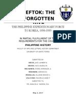 PEFTOK - THE FORGOTTEN WAR.docx