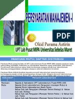3_ Sistem Mutu Lab_Persyaratan Manajemen_Prof Okid