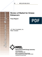 Review of Market for Octane Enhancers