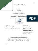 Project Report Hydrualic Scissor Lift