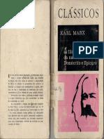 Marx - A filosofia da Natureza em Demócrito e Epicuro.pdf