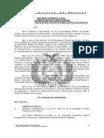 DS 0612 -250810- Aprueba el Reglamento a la Ley N° 4125, de 26 de noviembre de 2009, conforme Anexo