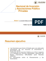 La Inversión Publica en El Perú