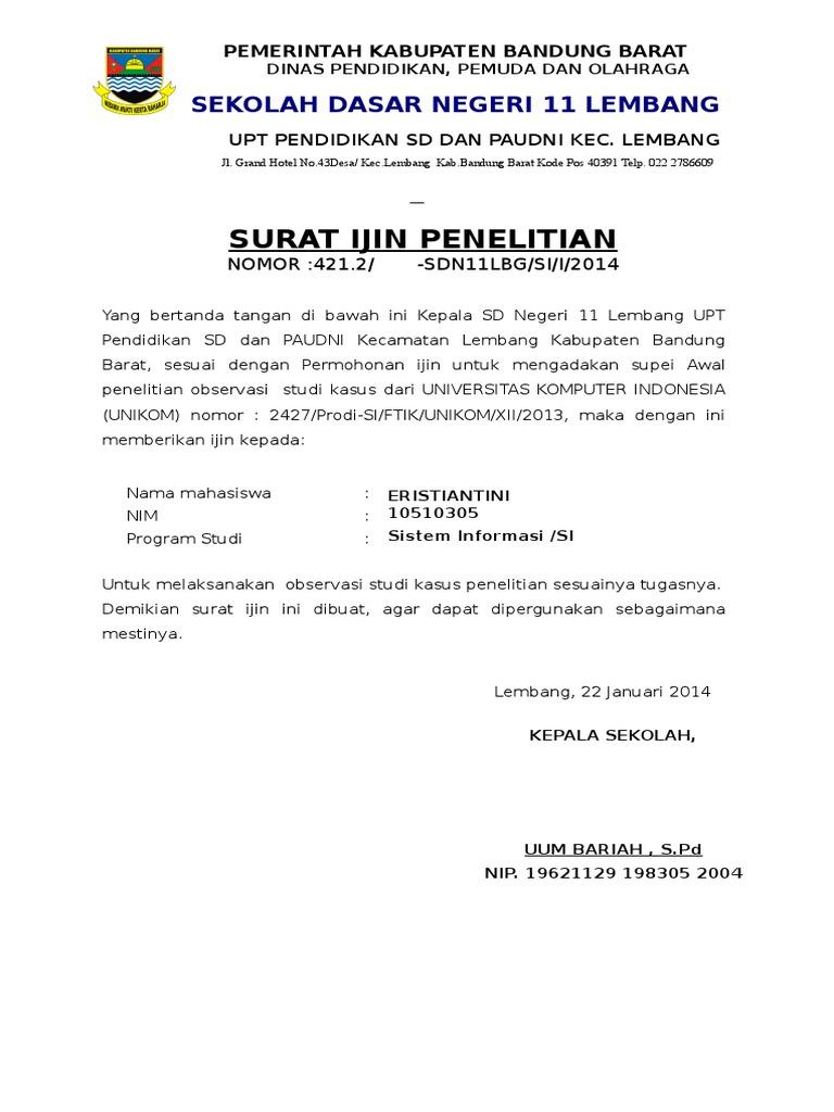 Kop Surat Dinas Pendidikan Kabupaten Bandung Barat ...